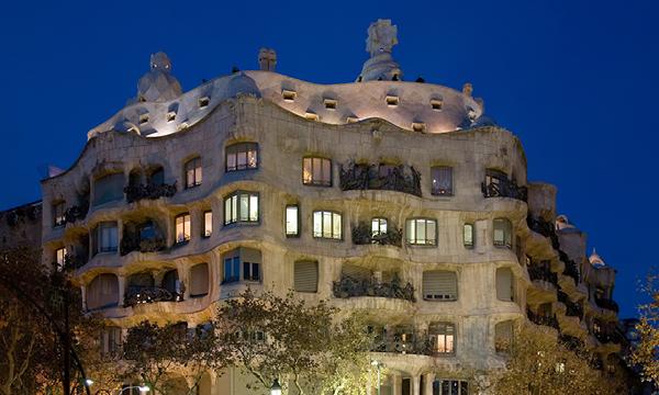 La Pedrera or Casa Mila from Antoni Gaudi in Barcelona