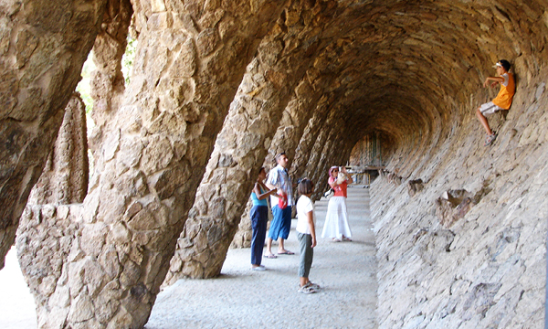 Interior of Parc Güell from Antoni Gaudi must see in Barcelona